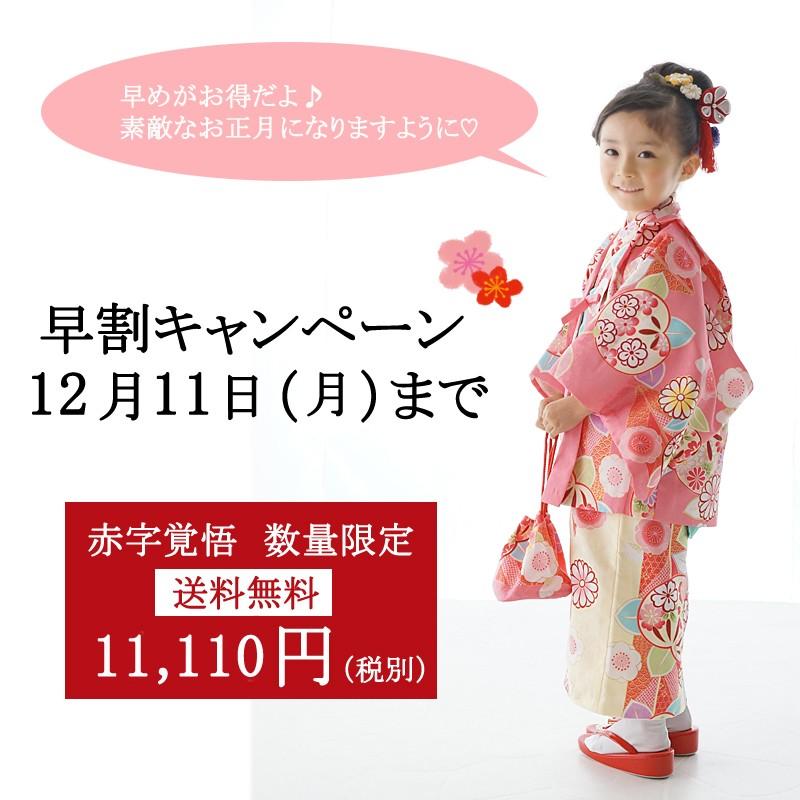 お正月に着れる子供用の着物セット