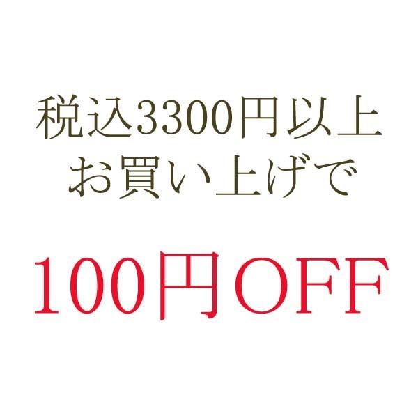 税込3300円以上お買い上げで 『 100円OFF 』 クーポン