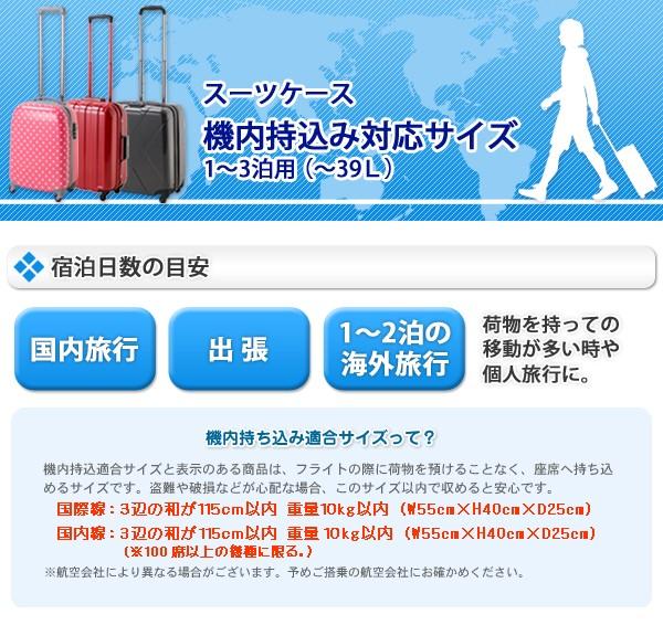 スーツケース 機内持込み対応サイズ