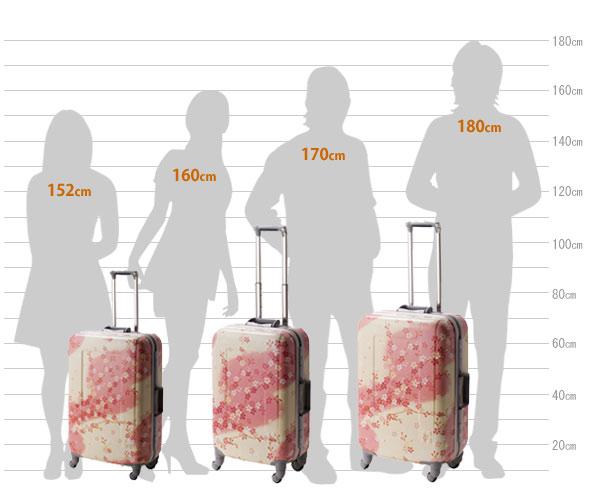 HIDEO WAKAMATSUさくらスーツケース(サイズ)