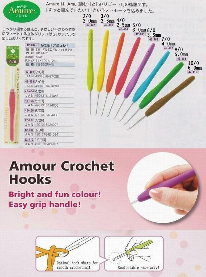 Needle Crochet Crochet Hook Clover Amure Crochet Hook Size2