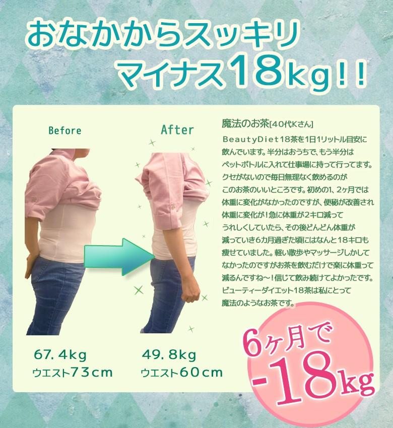 おなかからスッキリ マイナス18kg!BeautyDiet18茶