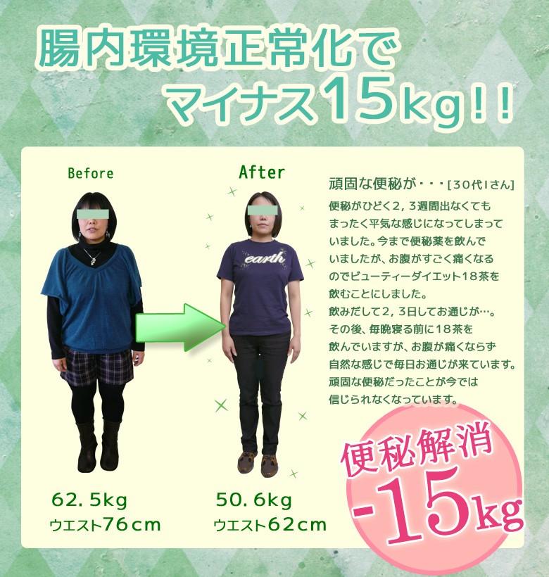腸内環境正常化でマイナス15kg! BeautyDiet18茶