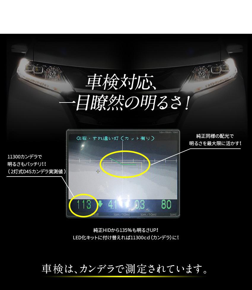 車検対応、一目瞭然の明るさ
