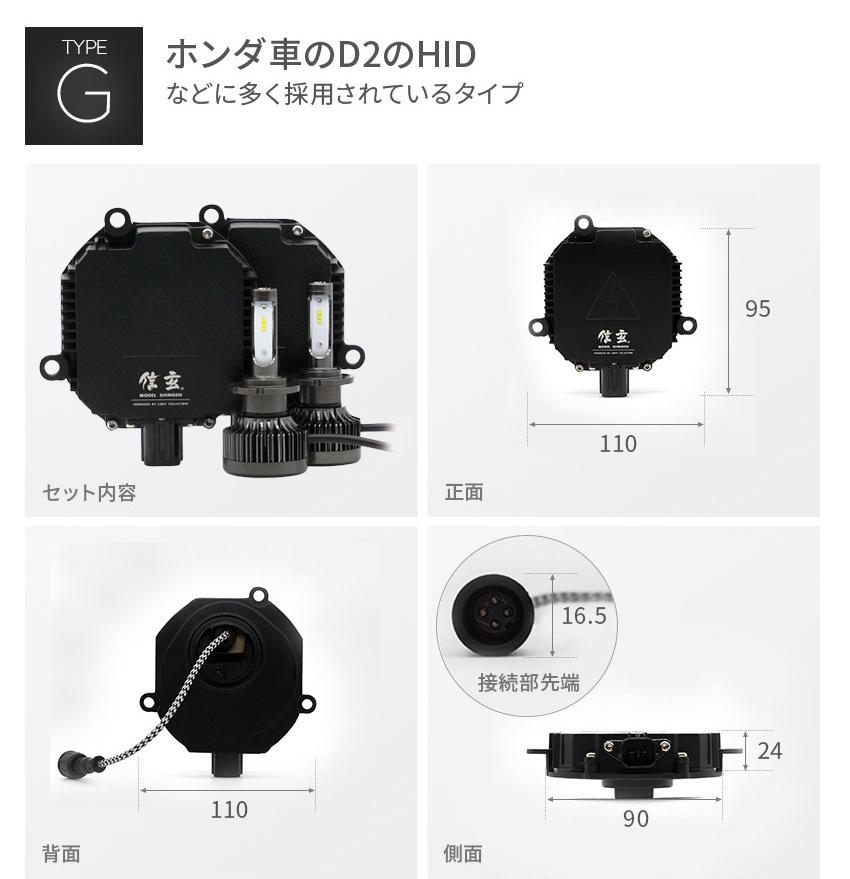 ホンダ車のD2のHIDに多く採用されているGタイプ