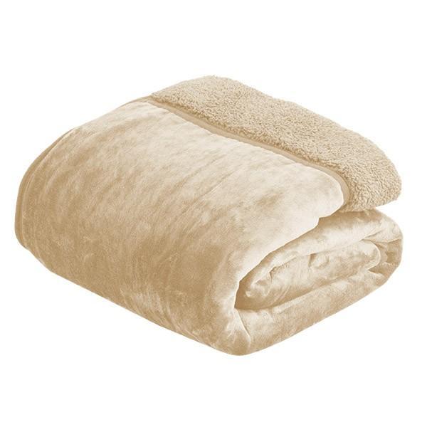 毛布 2枚合わせ毛布 シングル プラス2℃ ぬくぬくボリュームタイプ 発熱繊維 ヒートウォーム マイクロファイバー毛布 厚手 静電気防止 シープタッチ 送料無料 l-design 06