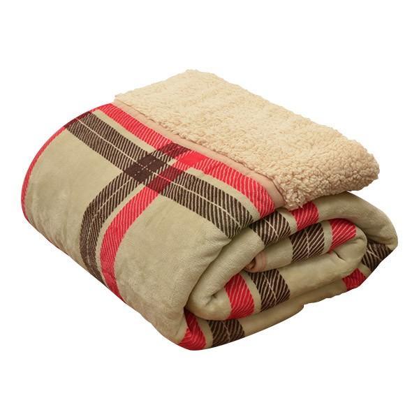 毛布 2枚合わせ毛布 シングル プラス2℃ ぬくぬくボリュームタイプ 発熱繊維 ヒートウォーム マイクロファイバー毛布 厚手 静電気防止 シープタッチ 送料無料 l-design 09