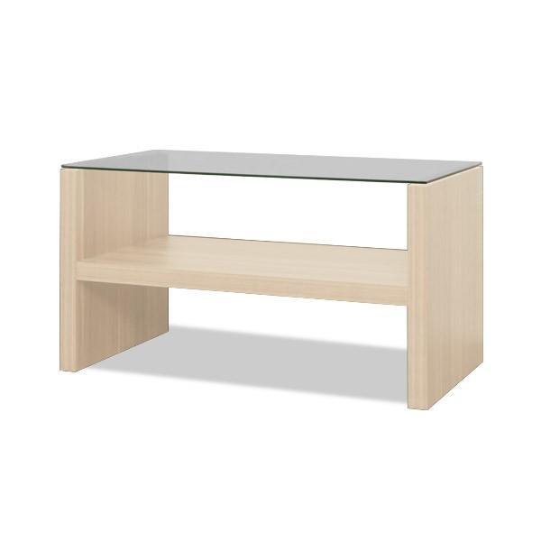 テーブル センターテーブル ローテーブル リビングテーブル コーヒーテーブル ガラステーブル 木製 幅75cm x 奥行40cm x 高さ40cm おしゃれ 強化ガラス l-design 08
