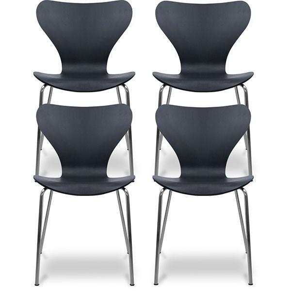 ダイニングチェア 4脚セット 北欧 おしゃれ 木製 椅子 セブンチェア アルネ・ヤコブセン ナチュラル ホワイト ブラック スツール リプロダクト 送料無料 l-design 07