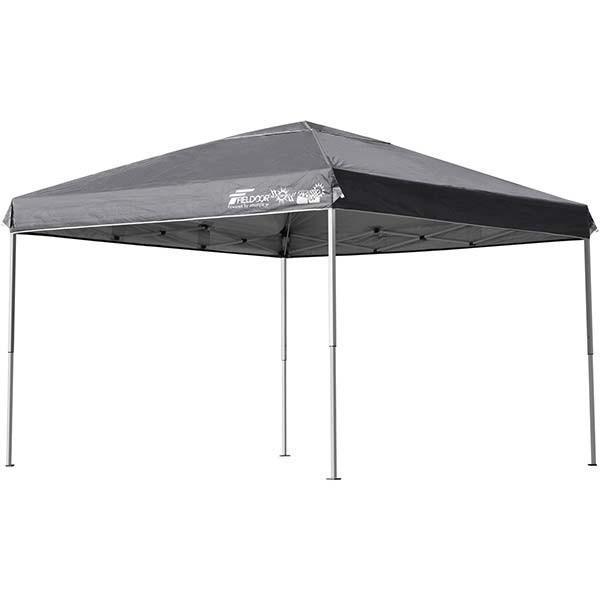 テント タープ タープテント 3m ワンタッチ 日よけ イベント アウトドア バーベキュー キャンプ 海 UVカット 防水 スチール おしゃれ 大型 FIELDOOR 送料無料|l-design|10