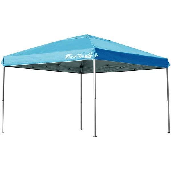 テント タープ タープテント 3m ワンタッチ 日よけ イベント アウトドア バーベキュー キャンプ 海 UVカット 防水 スチール おしゃれ 大型 FIELDOOR 送料無料|l-design|11