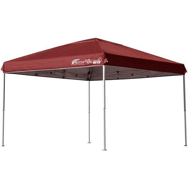 テント タープ タープテント 3m ワンタッチ 日よけ イベント アウトドア バーベキュー キャンプ 海 UVカット 防水 スチール おしゃれ 大型 FIELDOOR 送料無料|l-design|12