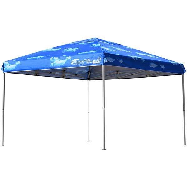 テント タープ タープテント 3m ワンタッチ 日よけ イベント アウトドア バーベキュー キャンプ 海 UVカット 防水 スチール おしゃれ 大型 FIELDOOR 送料無料|l-design|20