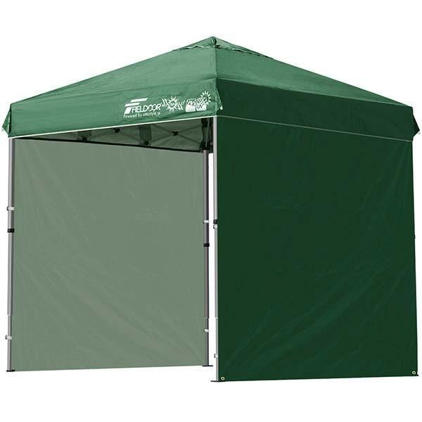テント タープ タープテント 2m ワンタッチテント ワンタッチタープ 軽量 アルミ 日よけ アウトドア キャンプ バーベキュー シート2枚 FIELDOOR 送料無料 l-design 06