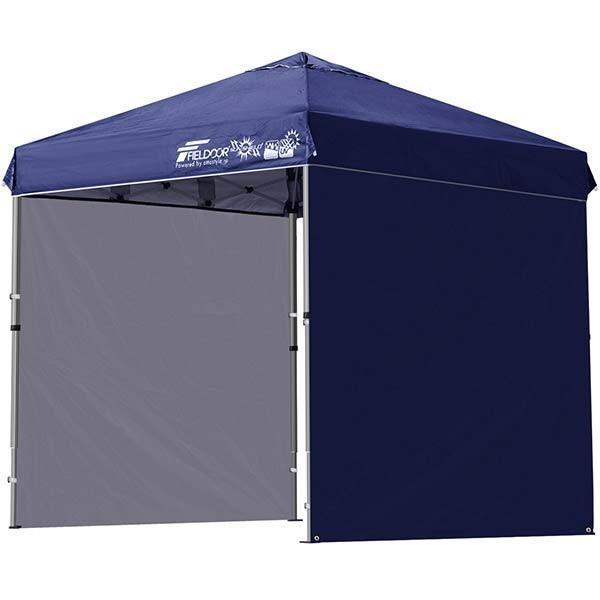 テント タープ タープテント 2m ワンタッチテント ワンタッチタープ 軽量 アルミ 日よけ アウトドア キャンプ バーベキュー シート2枚 FIELDOOR 送料無料 l-design 07