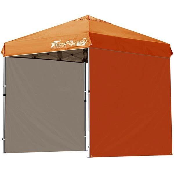 テント タープ タープテント 2m ワンタッチテント ワンタッチタープ 軽量 アルミ 日よけ アウトドア キャンプ バーベキュー シート2枚 FIELDOOR 送料無料 l-design 08