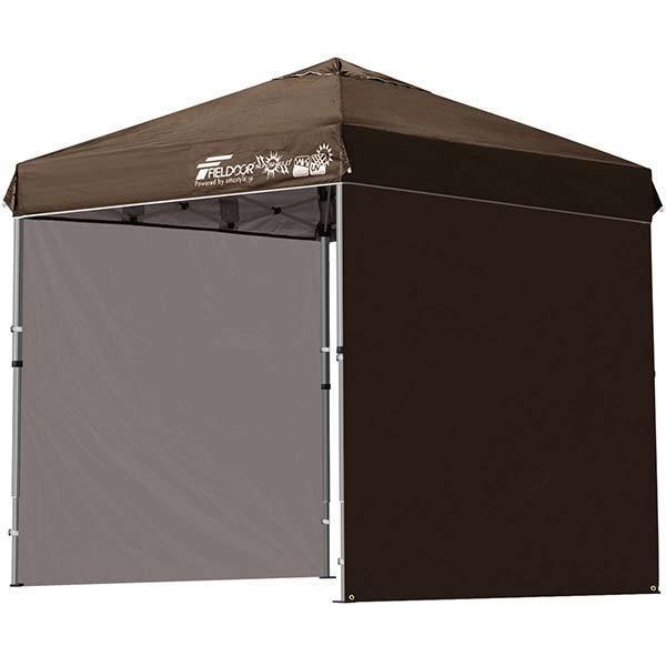 テント タープ タープテント 2m ワンタッチテント ワンタッチタープ 軽量 アルミ 日よけ アウトドア キャンプ バーベキュー シート2枚 FIELDOOR 送料無料 l-design 09