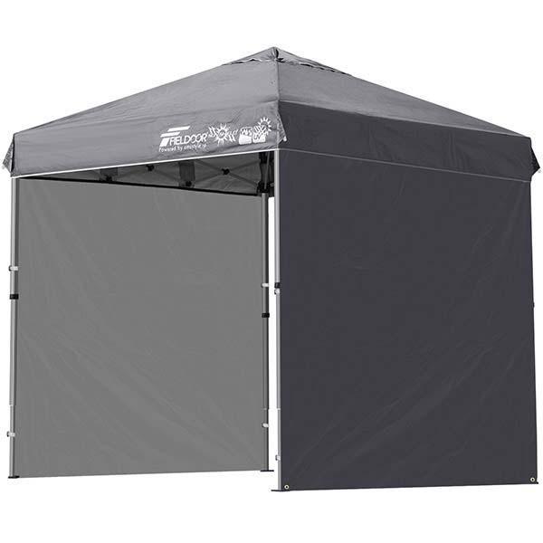 テント タープ タープテント 2m ワンタッチテント ワンタッチタープ 軽量 アルミ 日よけ アウトドア キャンプ バーベキュー シート2枚 FIELDOOR 送料無料 l-design 10
