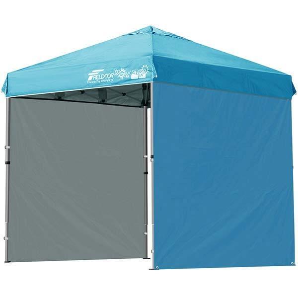 テント タープ タープテント 2m ワンタッチテント ワンタッチタープ 軽量 アルミ 日よけ アウトドア キャンプ バーベキュー シート2枚 FIELDOOR 送料無料 l-design 11