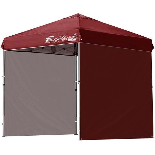 テント タープ タープテント 2m ワンタッチテント ワンタッチタープ 軽量 アルミ 日よけ アウトドア キャンプ バーベキュー シート2枚 FIELDOOR 送料無料 l-design 12