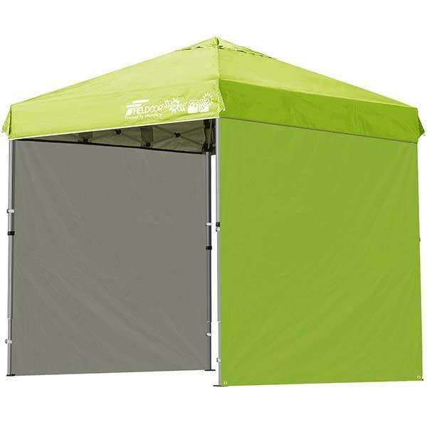 テント タープ タープテント 2m ワンタッチテント ワンタッチタープ 軽量 アルミ 日よけ アウトドア キャンプ バーベキュー シート2枚 FIELDOOR 送料無料 l-design 13