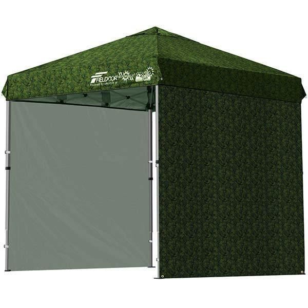テント タープ タープテント 2m ワンタッチテント ワンタッチタープ 軽量 アルミ 日よけ アウトドア キャンプ バーベキュー シート2枚 FIELDOOR 送料無料 l-design 14