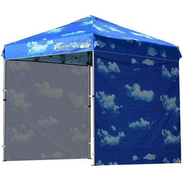 テント タープ タープテント 2m ワンタッチテント ワンタッチタープ 軽量 アルミ 日よけ アウトドア キャンプ バーベキュー シート2枚 FIELDOOR 送料無料 l-design 19