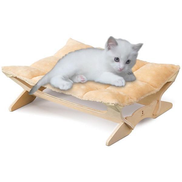 ペット用ハンモック ペット用ベッド 猫 耐荷重6kg Mサイズ 54cm 木製 ペット用ソファ ソファー クッション ペット用品 キャットハンモック 送料無料|l-design|22
