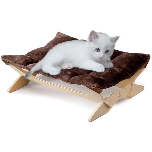 ペット用ハンモック ペット用ベッド 猫 耐荷重6kg Mサイズ 54cm 木製 ペット用ソファ ソファー クッション ペット用品 キャットハンモック 送料無料|l-design|23