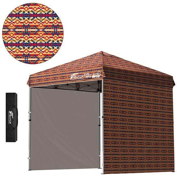 テント タープ タープテント 2m ワンタッチテント ワンタッチタープ 軽量 アルミ 日よけ アウトドア キャンプ バーベキュー シート2枚 FIELDOOR 送料無料 l-design 16