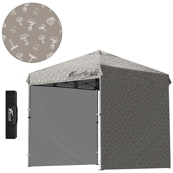 テント タープ タープテント 2m ワンタッチテント ワンタッチタープ 軽量 アルミ 日よけ アウトドア キャンプ バーベキュー シート2枚 FIELDOOR 送料無料 l-design 17