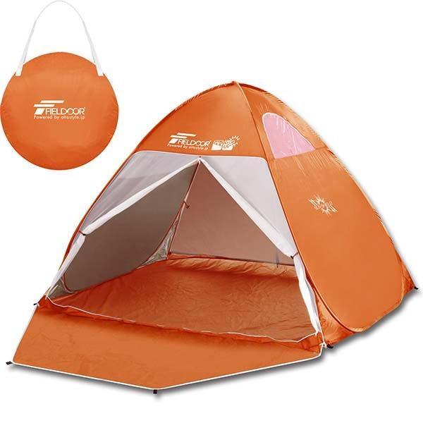 テント ワンタッチテント 着替え用テント アウトドア 2人用 4人用 ビーチ ドーム型 運動会 キャンプ おしゃれ 日よけ 200cm UVカット 防虫 FIELDOOR 送料無料 l-design 16