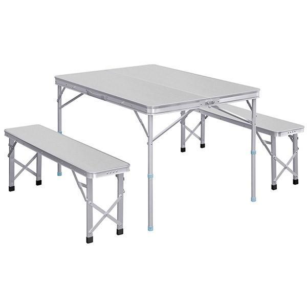 レジャーテーブル 折りたたみ テーブル レジャーテーブルセット ピクニックテーブル 110X80X70cm 収納式 椅子付 FIELDOOR 送料無料 l-design 05