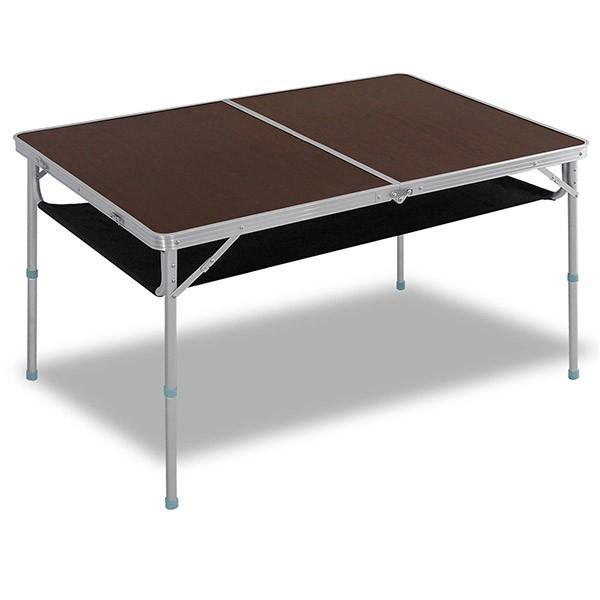 レジャーテーブル 折りたたみ 軽量 高さ調節 120X80X70cm FIELDOOR アウトドア キャンプ アルミ 折り畳み 運動会 送料無料|l-design|08