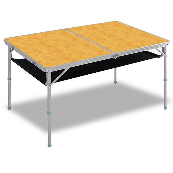 レジャーテーブル 折りたたみ 軽量 高さ調節 120X80X70cm FIELDOOR アウトドア キャンプ アルミ 折り畳み 運動会 送料無料|l-design|06
