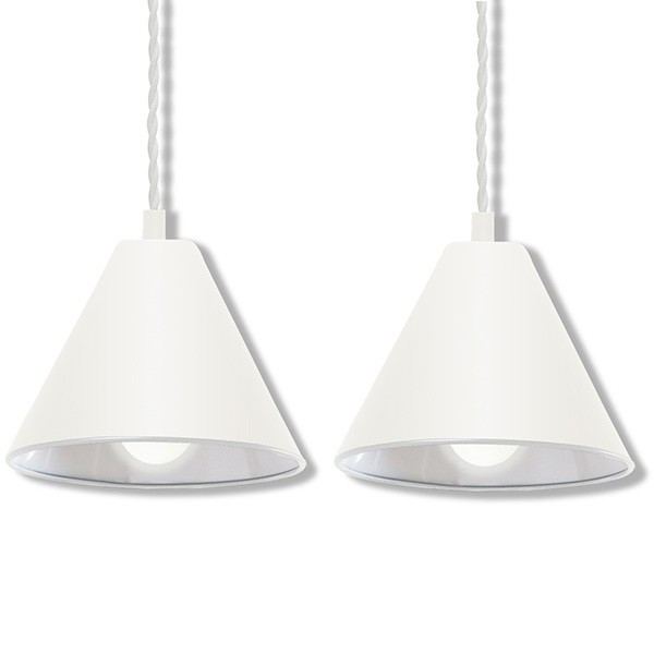ペンダントライト 照明 1灯 2個セット おしゃれ LED 電球 北欧 天井 リビング 吊り下げ ダクトレール レールライト カフェ 食卓 シンプル 口金 E26 送料無料 l-design 12
