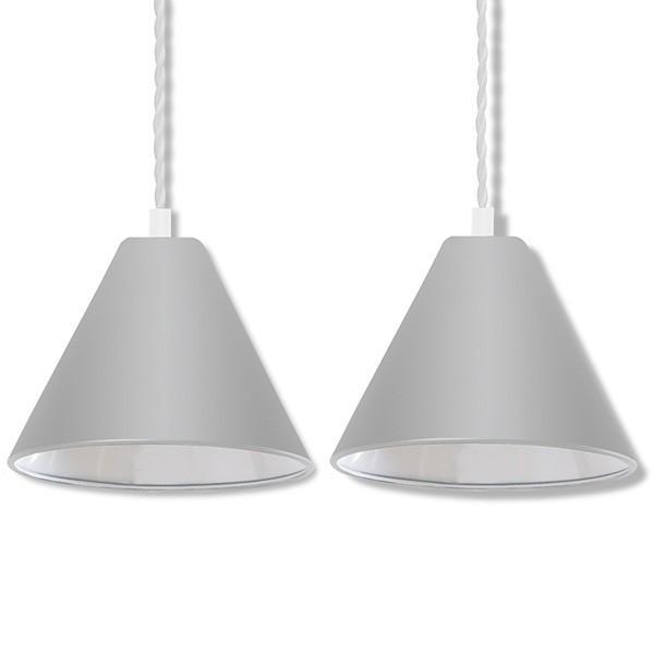 ペンダントライト 照明 1灯 2個セット おしゃれ LED 電球 北欧 天井 リビング 吊り下げ ダクトレール レールライト カフェ 食卓 シンプル 口金 E26 送料無料 l-design 14