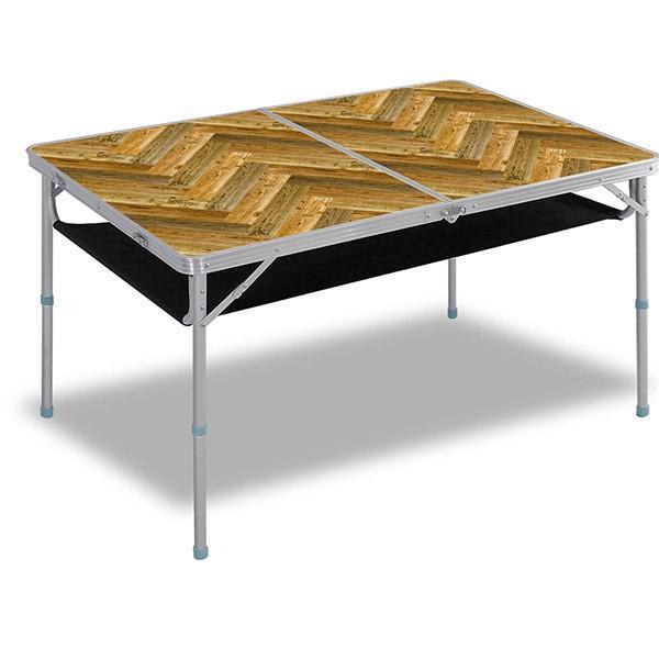 レジャーテーブル 折りたたみ 軽量 高さ調節 120X80X70cm FIELDOOR アウトドア キャンプ アルミ 折り畳み 運動会 送料無料|l-design|11