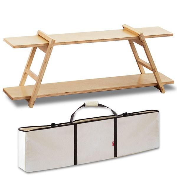 アウトドアテーブル 折りたたみ 木製 収納棚 ワンバイ ラック 組み立て カスタマイズ DIY レジャーテーブル コンパクト キャンプ テーブル FIELDOOR 送料無料 l-design 05