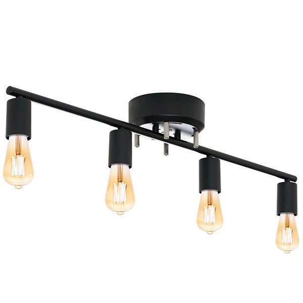 シーリングライト 照明 器具 4灯 ヴィンテージ風 LED エジソンライト セット おしゃれ シェードなし led対応 天井照明 直付け 寝室 リビング 洋室 北欧 送料無料|l-design|07