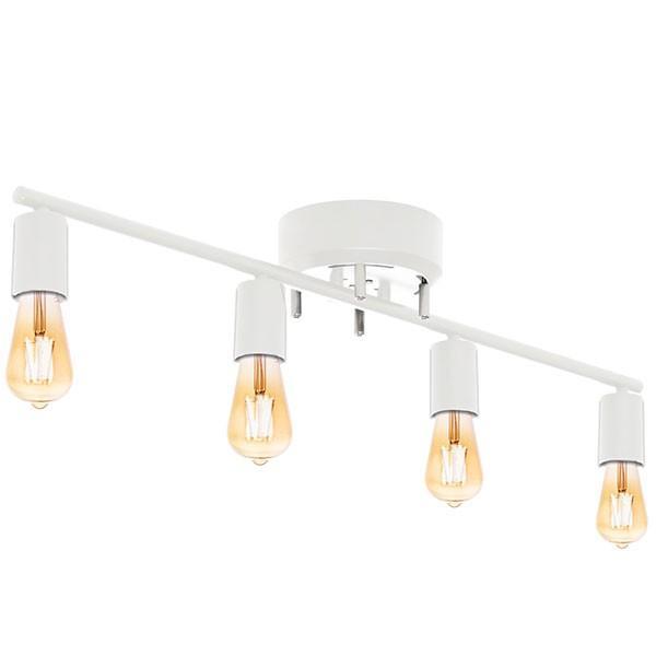 シーリングライト 照明 器具 4灯 ヴィンテージ風 LED エジソンライト セット おしゃれ シェードなし led対応 天井照明 直付け 寝室 リビング 洋室 北欧 送料無料|l-design|11