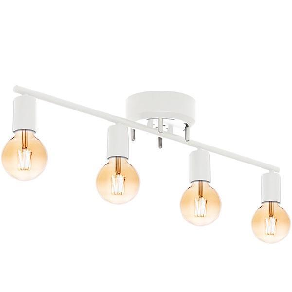 シーリングライト 照明 器具 4灯 ヴィンテージ風 LED エジソンライト セット おしゃれ シェードなし led対応 天井照明 直付け 寝室 リビング 洋室 北欧 送料無料|l-design|12