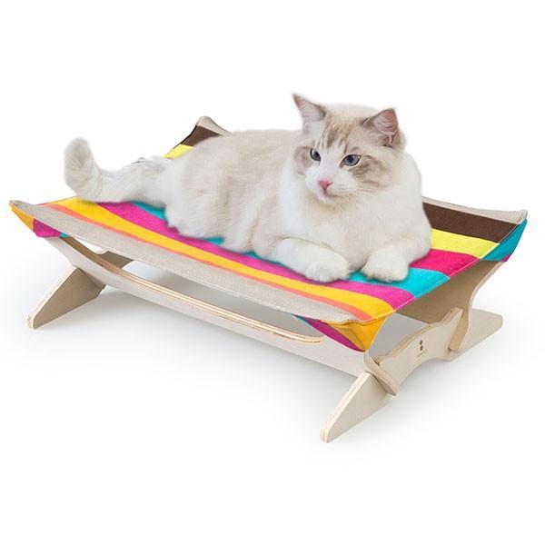 ペット用ハンモック ペット用ベッド 猫 耐荷重6kg Mサイズ 54cm 木製 ペット用ソファ ソファー クッション ペット用品 キャットハンモック 送料無料|l-design|25