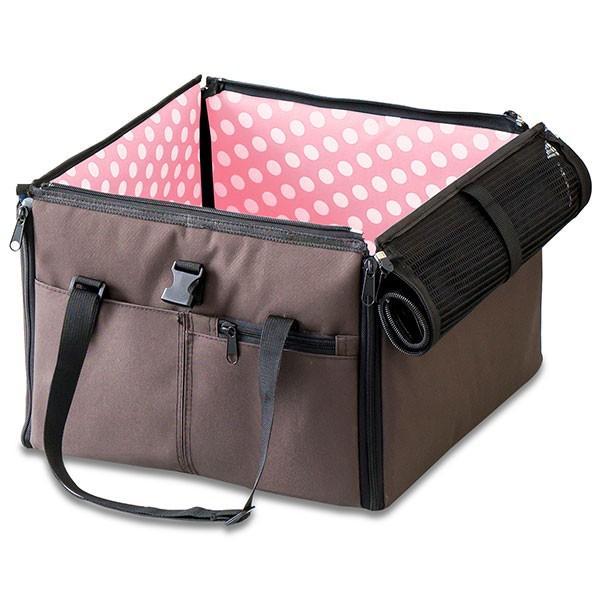 ペット 犬 ドライブボックス Sサイズ 38 x 38 x 25 cm ドッグ キャリー ドライブベッド ドライブ カー ベッド 車 車用 ペットキャリー 折りたたみ 送料無料|l-design|22
