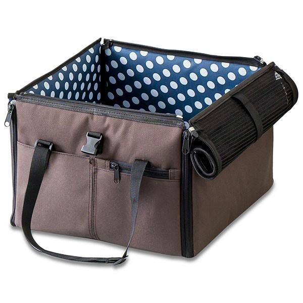 ペット 犬 ドライブボックス Sサイズ 38 x 38 x 25 cm ドッグ キャリー ドライブベッド ドライブ カー ベッド 車 車用 ペットキャリー 折りたたみ 送料無料|l-design|23