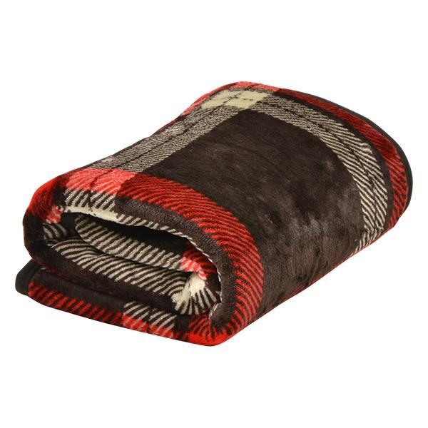 ひざ掛け 膝掛け ブランケット 2枚合わせ毛布 プラス2℃ ぬくぬくボリューム ヒートウォーム 静電気防止 洗濯可能 洗える リバーシブル マイクロファイバー毛布|l-design|08