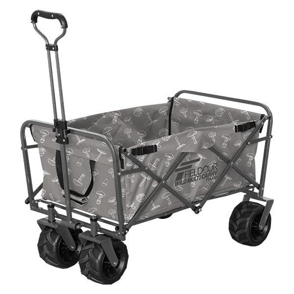 キャリーカート キャリーワゴン アウトドア 折りたたみ 折り畳み 大型タイヤ 軽量 大容量 キャンプ おしゃれ 頑丈 買い物 部活 カート FIELDOOR 送料無料 l-design 23