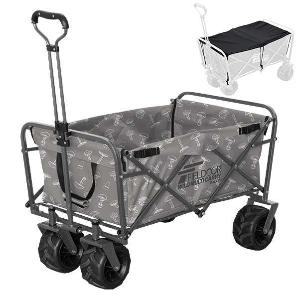 キャリーカート キャリーワゴン アウトドア 折りたたみ 折り畳み 大型タイヤ 軽量 大容量 キャンプ おしゃれ 頑丈 買い物 部活 カート FIELDOOR 送料無料 l-design 24