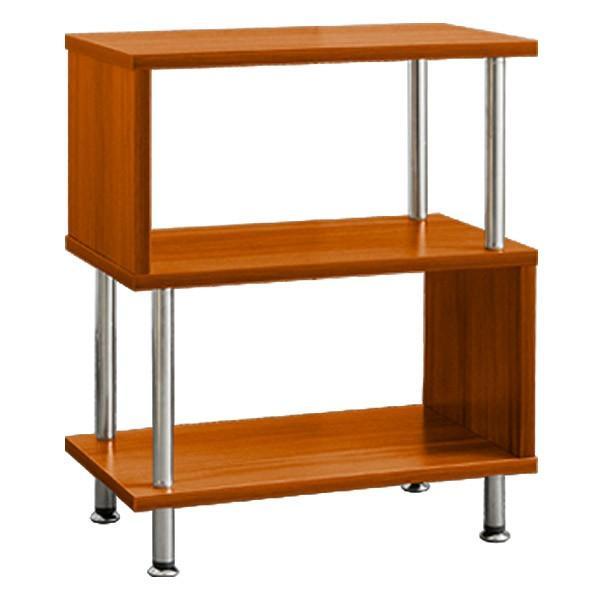 サイドテーブル サイドラック 収納棚 ラック s字 おしゃれ 木製 シェルフ ディスプレイラック オープンラック 幅40 3段 本棚 送料無料|l-design|09