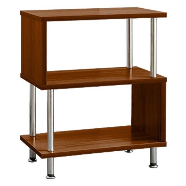 サイドテーブル サイドラック 収納棚 ラック s字 おしゃれ 木製 シェルフ ディスプレイラック オープンラック 幅40 3段 本棚 送料無料|l-design|10